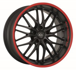 BARRACUDA VOLTEC T6 PureSports / Color Trim rot Felge 8x18 - 18 Zoll 4x100 Lochkreis - Tuning Teile Shop Autoteile
