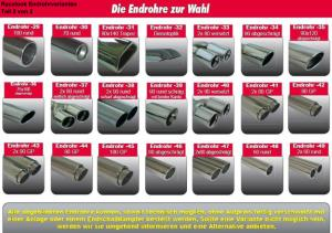 Racelook Gruppe A Duplex-Anlage Edelstahl/stainless steel SeatLeon 5F - Tuning Teile Shop Autoteile