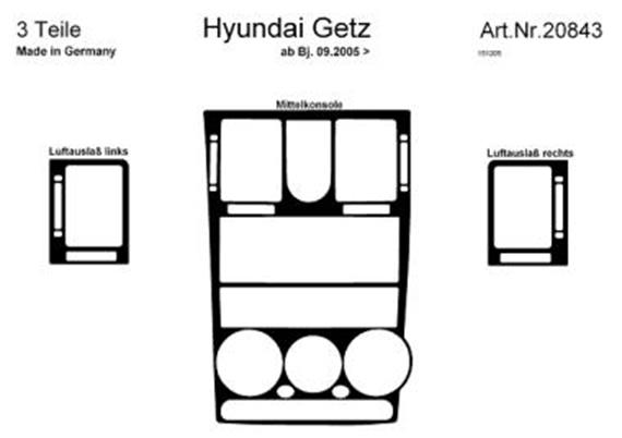 innendekor armaturenbrett mittelkonsole hyundai getz jms fahrzeugteile tuning felgen bodykits. Black Bedroom Furniture Sets. Home Design Ideas