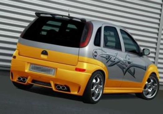 Wonderbaarlijk JMS Heckansatz Racelook für Opel Corsa C - JMS Fahrzeugteile WH-28