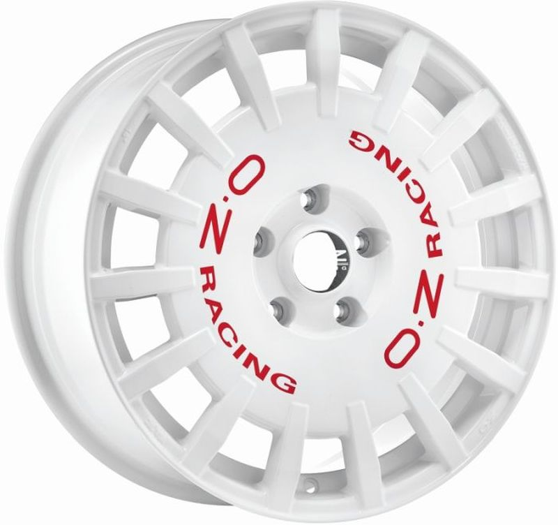 oz rally racing white red let felge 7 5x18 18 zoll 5x112 lochkreis ebay. Black Bedroom Furniture Sets. Home Design Ideas