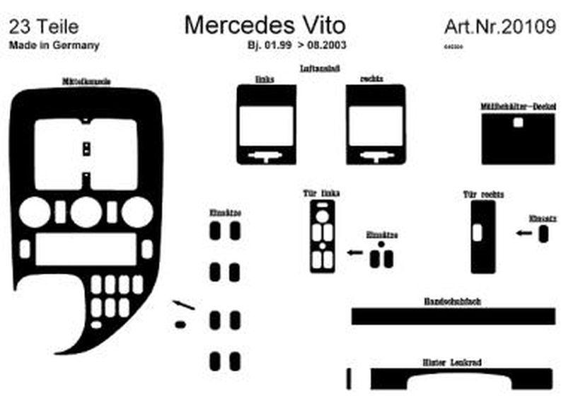 Détails sur Juge Décoration Intérieur Tableau de Bord / Console / Portes  pour Mercedes V.