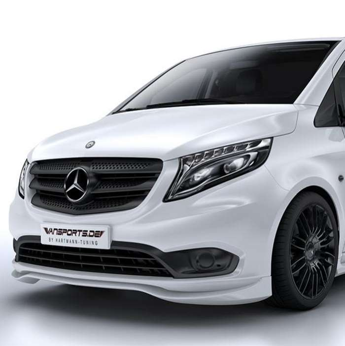 hartmann frontspoilerlippe vpspirit mercedes vito w447 jms fahrzeugteile tuning felgen bodykits. Black Bedroom Furniture Sets. Home Design Ideas
