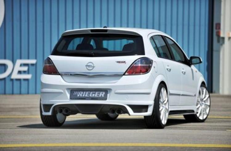 Opel Astra H Heckschürzenansatz für Doppelendrohr links Rieger ...