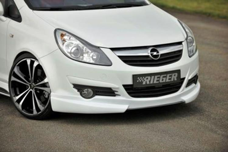 frontspoilerlippe rieger tuning opel corsa d jms. Black Bedroom Furniture Sets. Home Design Ideas
