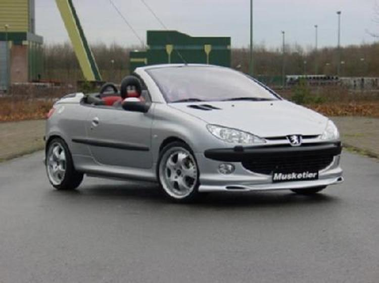frontspoiler xs s16 musketier tuning peugeot 206 cc. Black Bedroom Furniture Sets. Home Design Ideas