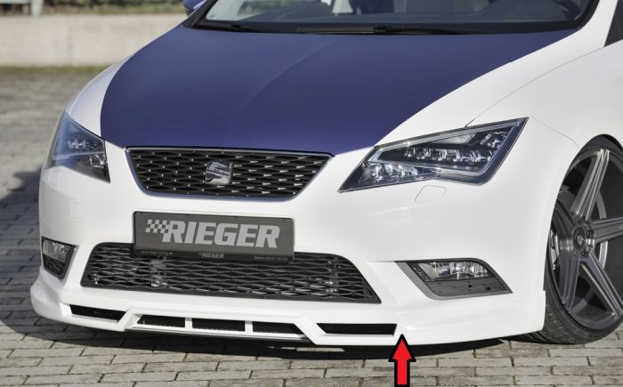 rieger spoilerlippe fr bis facelift seat leon 5f jms. Black Bedroom Furniture Sets. Home Design Ideas