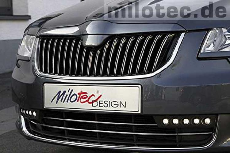 milotec frontgrillblende skoda superb ii typ 3t jms fahrzeugteile tuning felgen bodykits fahrwerke. Black Bedroom Furniture Sets. Home Design Ideas