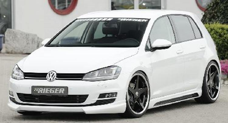 rieger frontlippe vw golf 7 jms fahrzeugteile tuning. Black Bedroom Furniture Sets. Home Design Ideas