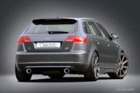 Heckansatz ohne Endschalldämpfer Caractere passend für Audi A3 8P Sportback