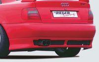 Heckansatz incl. Alugitter schwarz passend für Audi A4 B5