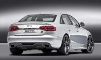 Caractere Heckansatz mit Ausschnitt für Doppelendrohr links passend für Audi A4 B8 ab 07