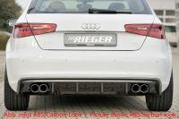 Rieger Heckeinsatz passend für Audi A3 8V