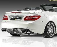 PIECHA RS Heckdiffusoreinsatz für AMG-Styling passend für Mercedes E-Klasse C207